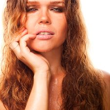 Wet Sexy Woman Stock Images