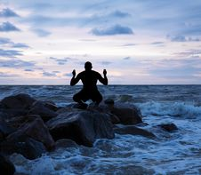 Free Man Meditating Stock Photos - 15916713