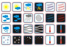 Free Weather Forecast Icons Day And Night Stock Images - 15916914