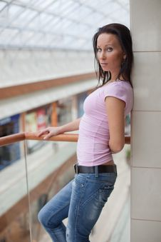 Free Beautiful Brunette On A Balcony Royalty Free Stock Images - 15917159