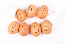 Free EAT EGGS Stock Image - 15917251