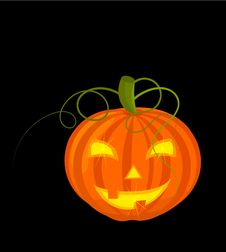 Scary Pumpkin Latern Stock Photography