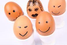 Free Smiling Eggs Stock Image - 15917481