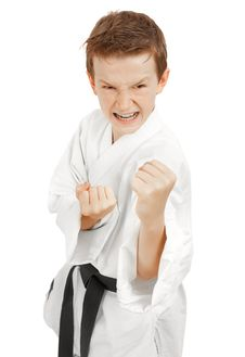 Free Kid In Fighting Stance Stock Photo - 15917700