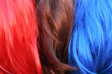 Free Stacks Of Colored Hair Stock Photos - 15918373