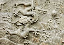 Free Chinese Dragon S Relief Royalty Free Stock Photos - 15918548