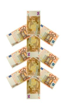 Free Money Tree Fifty Euro Banknote Royalty Free Stock Photography - 15918677