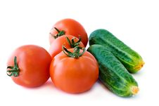 Free Red Tomatoes And Green Cucumbers Stock Photo - 15918680
