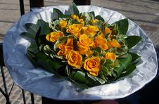 Free Yellow Roses Bouquet. Stock Photography - 15918842
