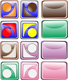Free Vector Buttons For Web-site Royalty Free Stock Image - 15919686