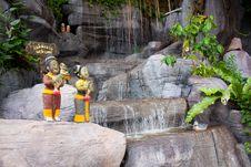 Free Waterfall In Garden Royalty Free Stock Photos - 15919868