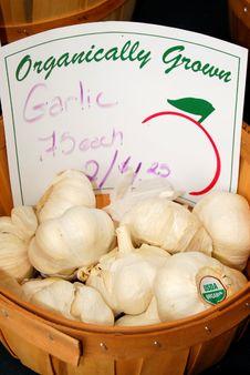 Garlic Basket Royalty Free Stock Images