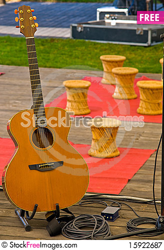 Free Music Instruments . Royalty Free Stock Photography - 15922687
