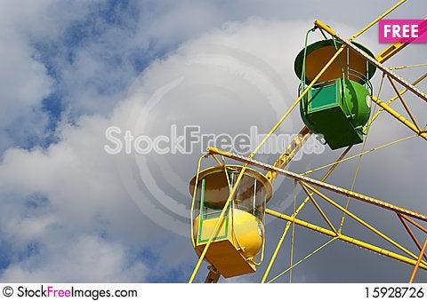 Free Attraction (Carousel) Ferris Wheel Royalty Free Stock Image - 15928726