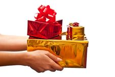 Free Red And Yellow Gifts Boxes Stock Photo - 15920310