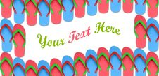 Free Colorful Flip Flop Wave Pattern Stock Photography - 15920362