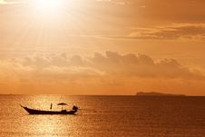 Free A Boat To The Sunset Stock Photo - 15920560