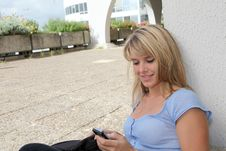 Free Student With Mobile Phone Stock Image - 15920691