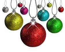 Free Christmas Balls In Different Colors And Sizes Royalty Free Stock Images - 15921089