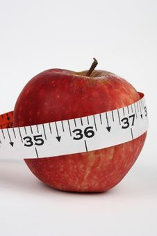 Closeup Of An Apple With 36 Measurement Stock Images