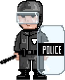 Free PixelArt: Police MAT Stock Photos - 15924023