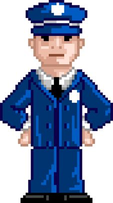 Free PixelArt: Police Man Royalty Free Stock Photo - 15924025