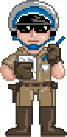 Free PixelArt: Police Officer Royalty Free Stock Image - 15924026