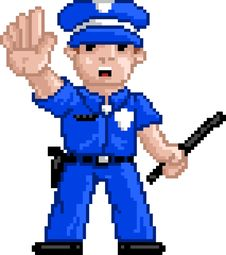 Free PixelArt: Police Officer Stock Images - 15924034
