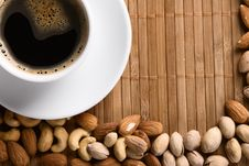 Free Coffee With Nuts Stock Photos - 15924293