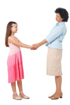 Grandmother And Granddaughter. Royalty Free Stock Photo