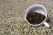 Free Cup Of Roasted Beans. Stock Photos - 15924583