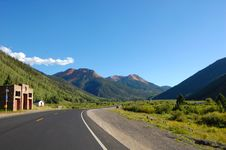 Road From Ouray To Silvertown Royalty Free Stock Image