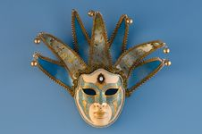Free Blue Female Venetian Mask Royalty Free Stock Photography - 15925647