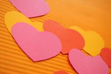 Colorful Cartoon Hearts Background. Royalty Free Stock Images