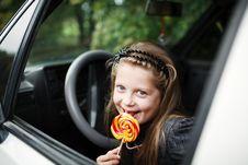 Free Girl In Car Stock Image - 15925921