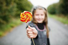 Free Little Girl With Lollipop Royalty Free Stock Photos - 15926088