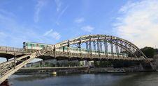 Free Train Cross Over The Seine River In Paris Stock Image - 15926101
