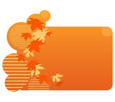 Free Abstract Autumnal Banner Royalty Free Stock Images - 15926859