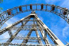 Prater - Giant Old Ferris Wheel, Vienna, Austria Royalty Free Stock Photography