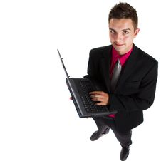 Young Teenage Businessman Royalty Free Stock Photo