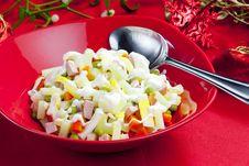 Free Christmas Potato Salad Royalty Free Stock Image - 15928026