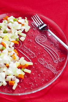 Free Christmas Potato Salad Royalty Free Stock Images - 15928029