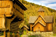 Free Wooden Church, Uvdal Stavkirke Royalty Free Stock Images - 15928279
