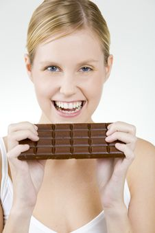 Free Woman With Chocolate Stock Photography - 15928342