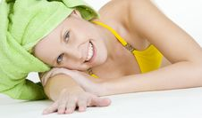 Free Woman With Towel On Head Stock Photos - 15928353