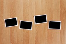 Free Blank Photos On Wooden Wall Royalty Free Stock Photography - 15928617