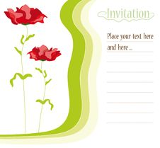 Free Invitation Card Stock Photo - 15928970