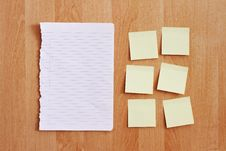 Free Blank Stationery On Wooden Wall Stock Image - 15929011