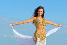 Beautiful Woman In Exotic Dress Stock Photos