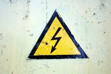 Free The Sign Of High Voltage Stock Photo - 15929640